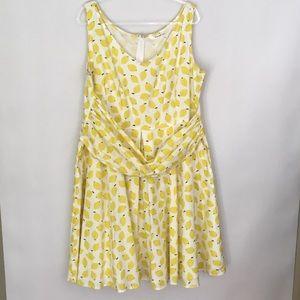 EShakti Jasmine Sleeveless Pleated Poplin Dress